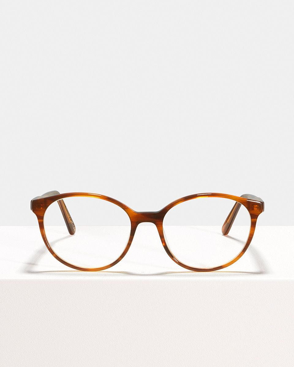 Nina round acetate glasses in Alderwood by Ace & Tate