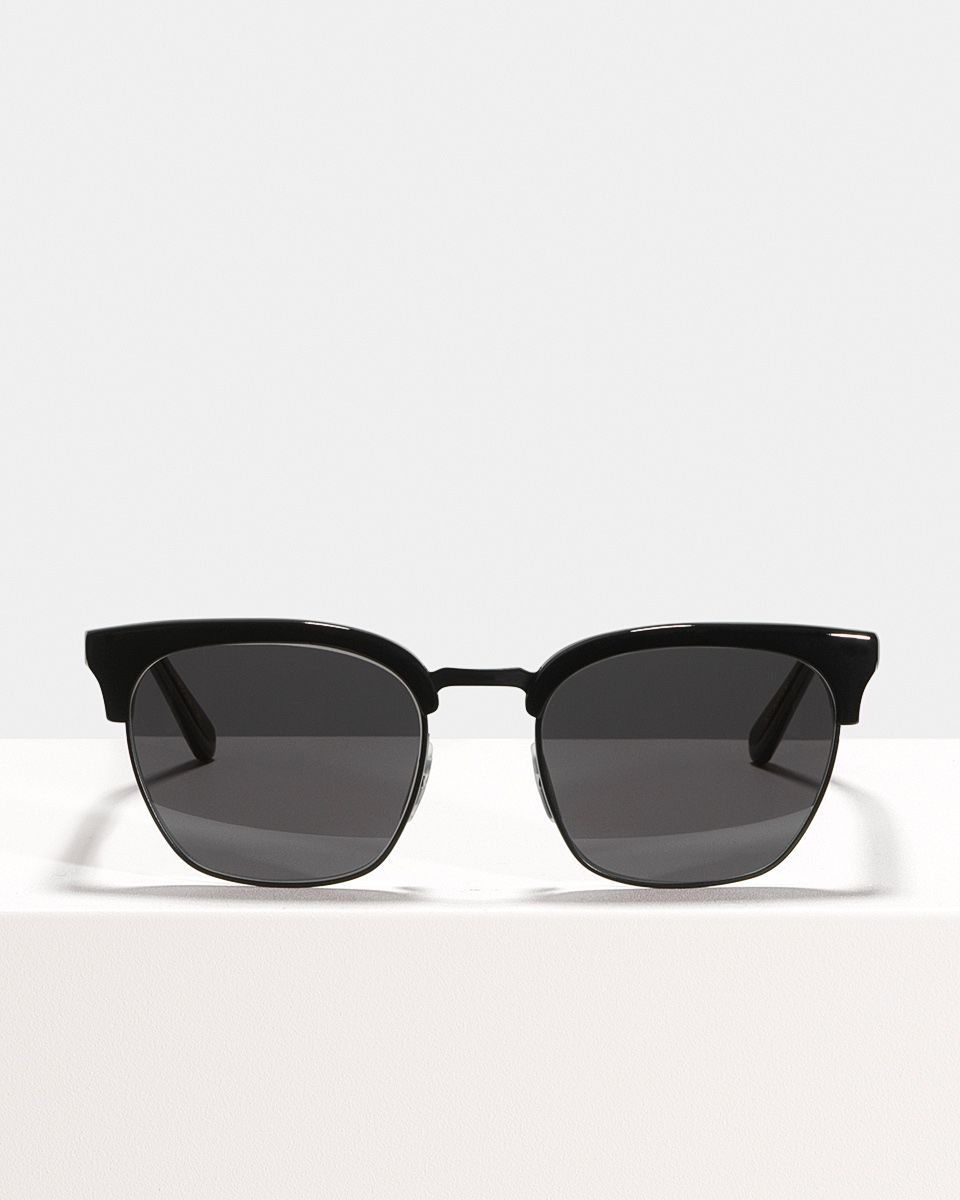 Oliver square metal,combi glasses in Bio Black by Ace & Tate