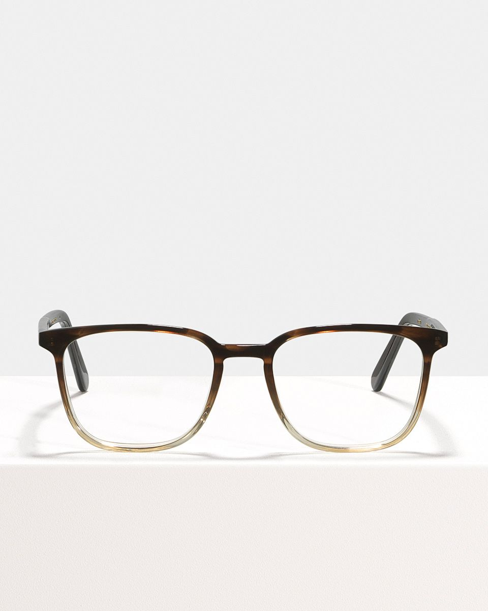 Nelson rectangle acetate glasses in Espresso Gradient by Ace & Tate