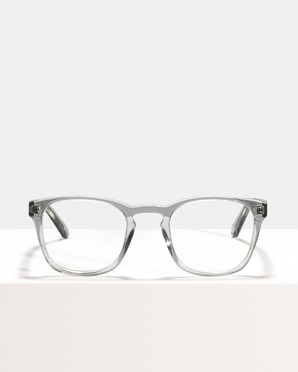 Axl vierkant acetaat glasses in Smoke by Ace & Tate