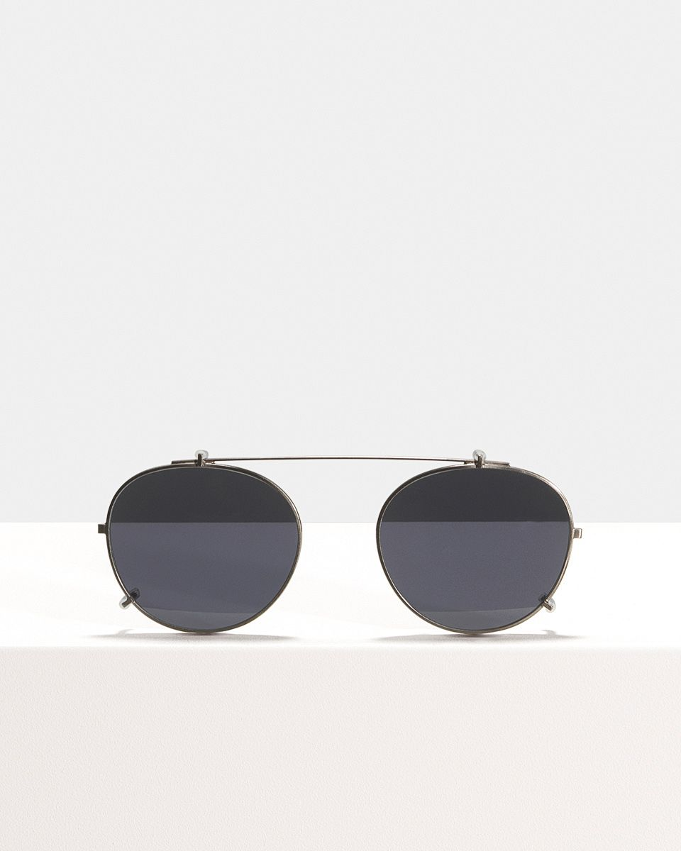 Easton clip-on   glasses in Gunmetal by Ace & Tate