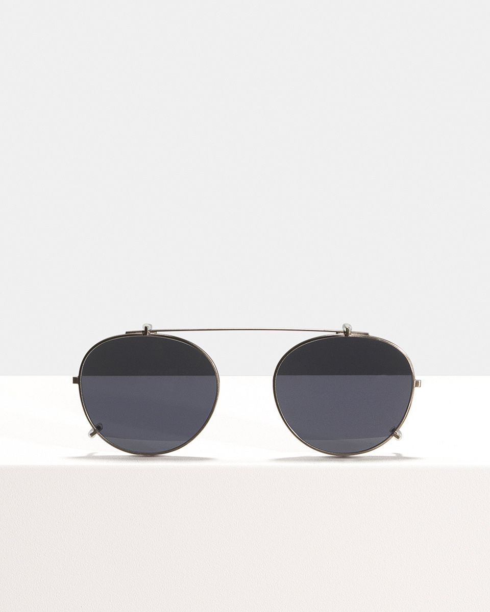 Max clip-on   glasses in Gunmetal by Ace & Tate