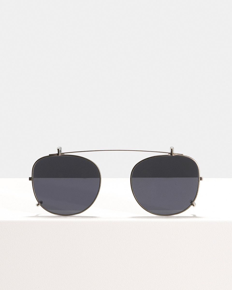 Milan clip-on   glasses in Gunmetal by Ace & Tate