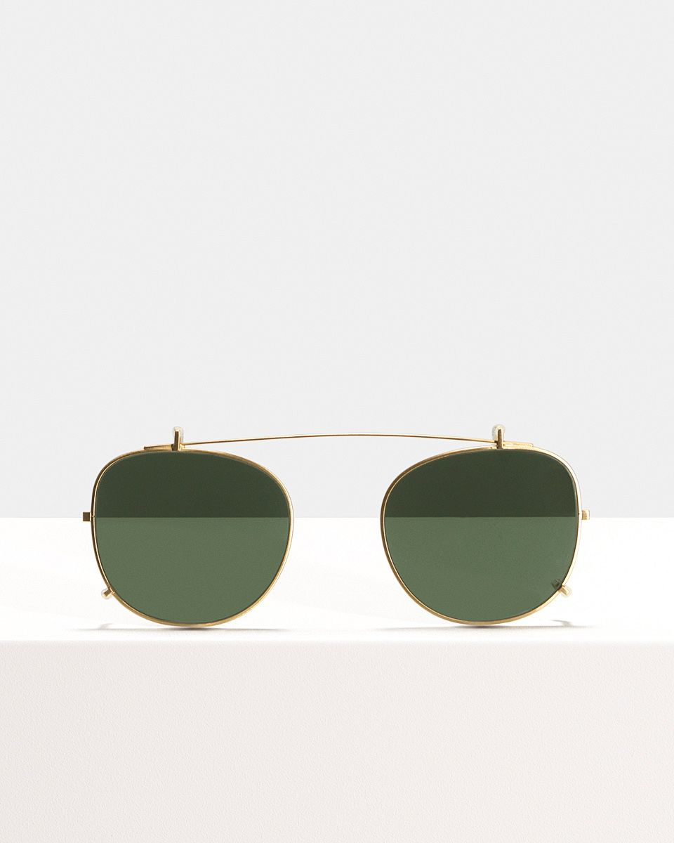 Milan clip-on   glasses in Satin Gold by Ace & Tate