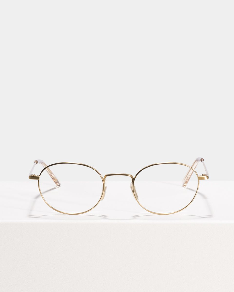 Patti Titanium oval titane glasses in Satin Gold by Ace & Tate