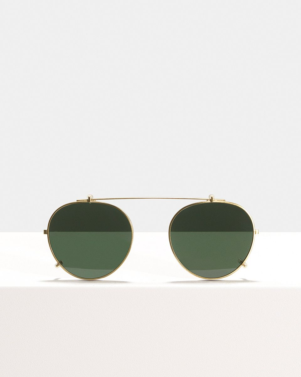 Pierce clip-on   glasses in Satin Gold by Ace & Tate