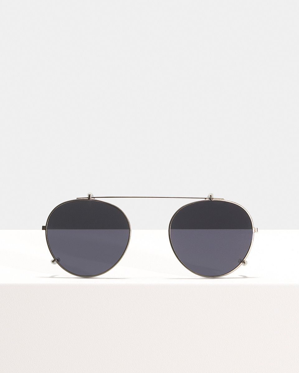 Pierce clip-on   glasses in Gunmetal by Ace & Tate