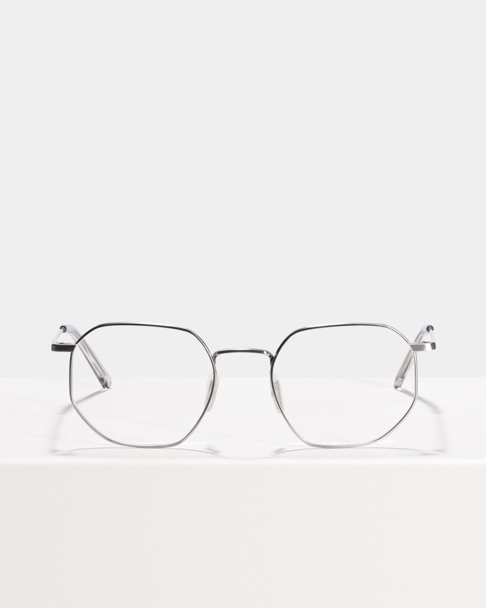 Robert Titanium rond titanium glasses in Satin Silver by Ace & Tate
