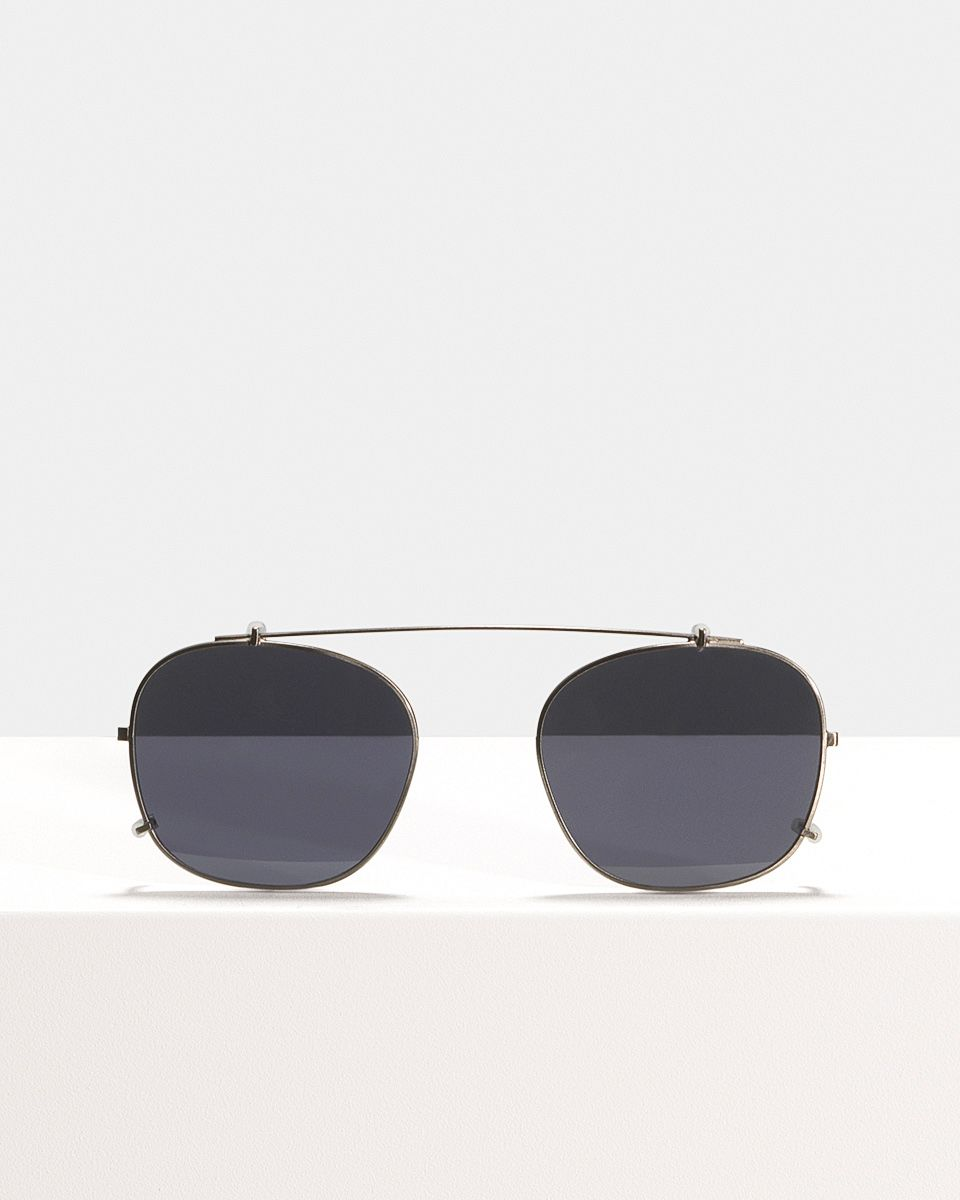 Wilson clip-on   glasses in Gunmetal by Ace & Tate