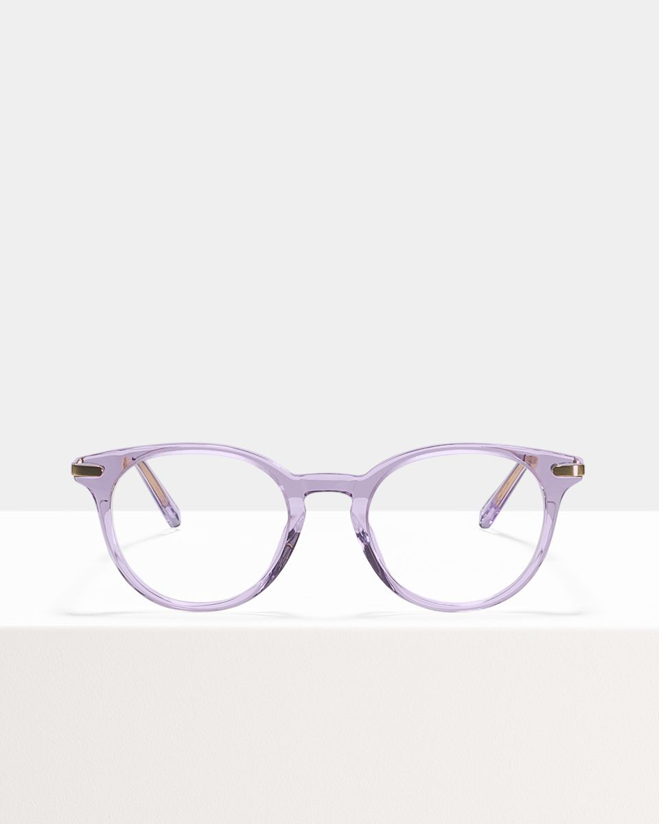 Max Metal Temple round combi glasses in Lilac by Ace & Tate