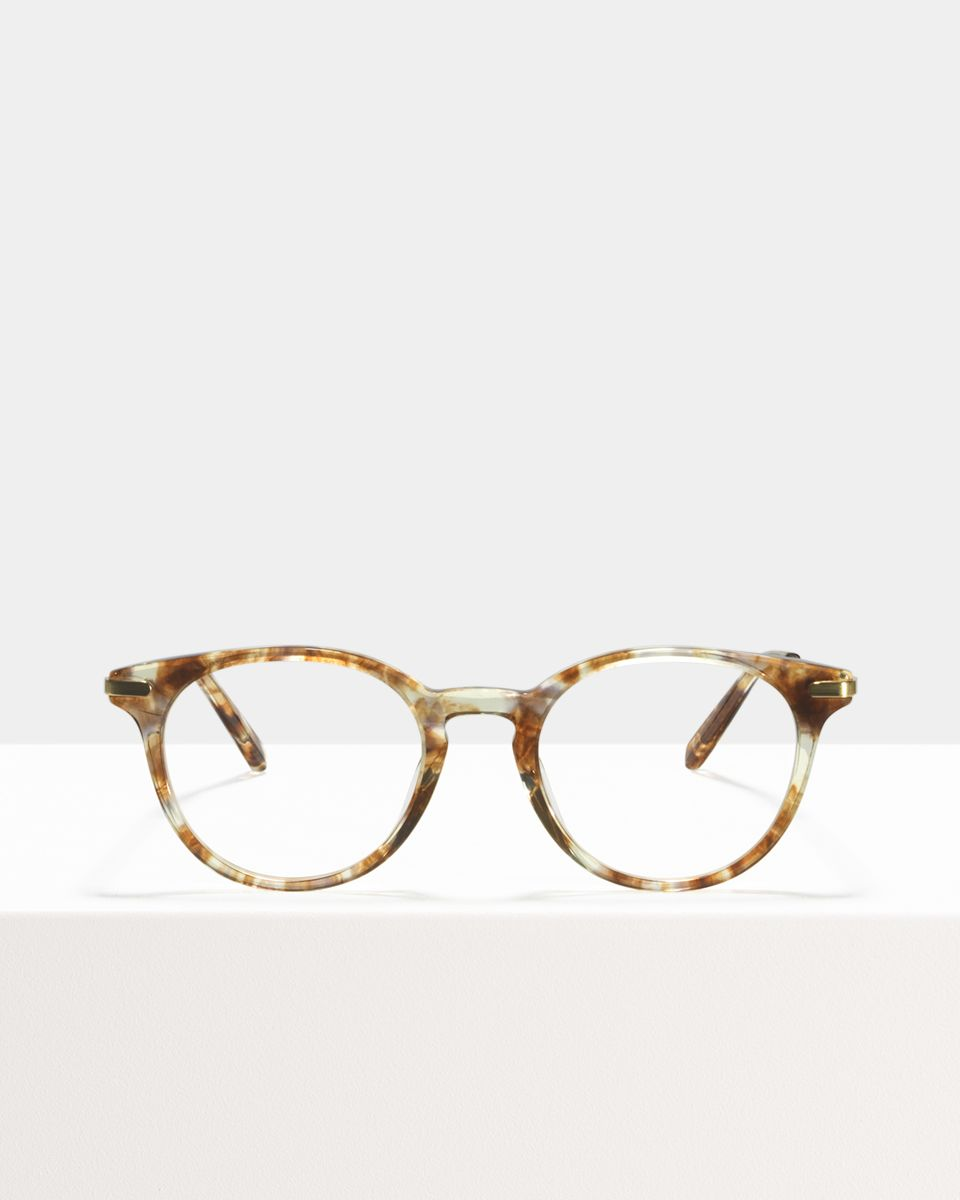 Max Metal Temple ronde combinaison glasses in Gold Dust by Ace & Tate