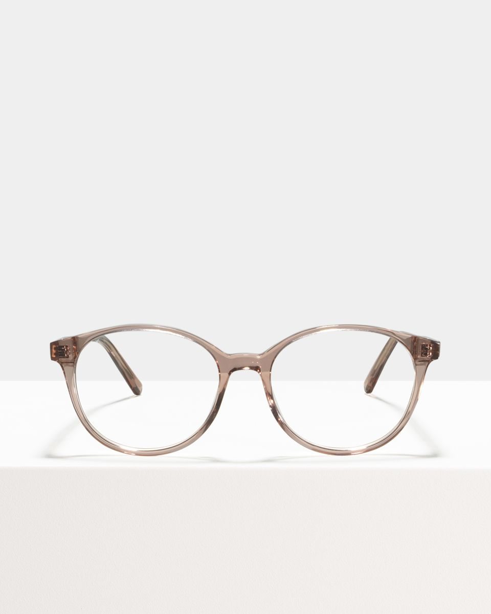 Nina rond acetaat glasses in Blush by Ace & Tate