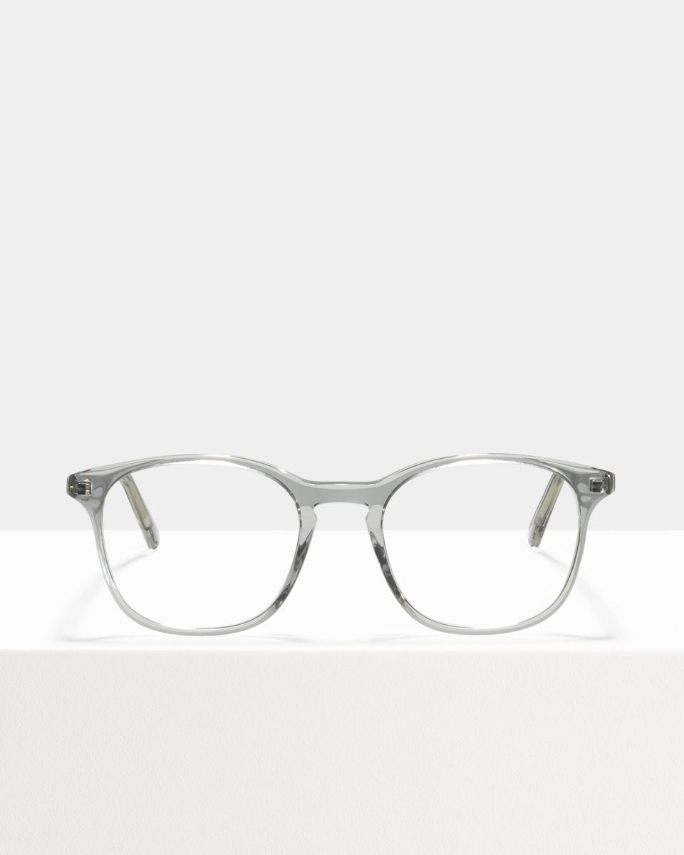 Wilson square acetate glasses in Smoke by Ace & Tate