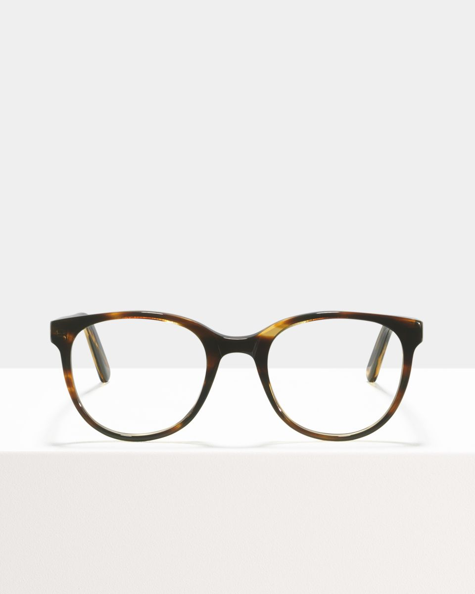 Lola rund Acetat glasses in Tiger Wood by Ace & Tate
