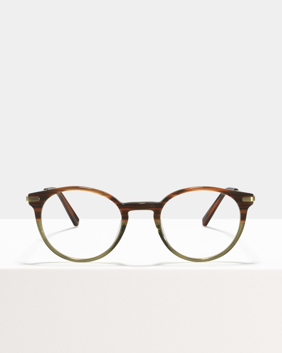 Morris rond metal,combi glasses in Hunter Green by Ace & Tate