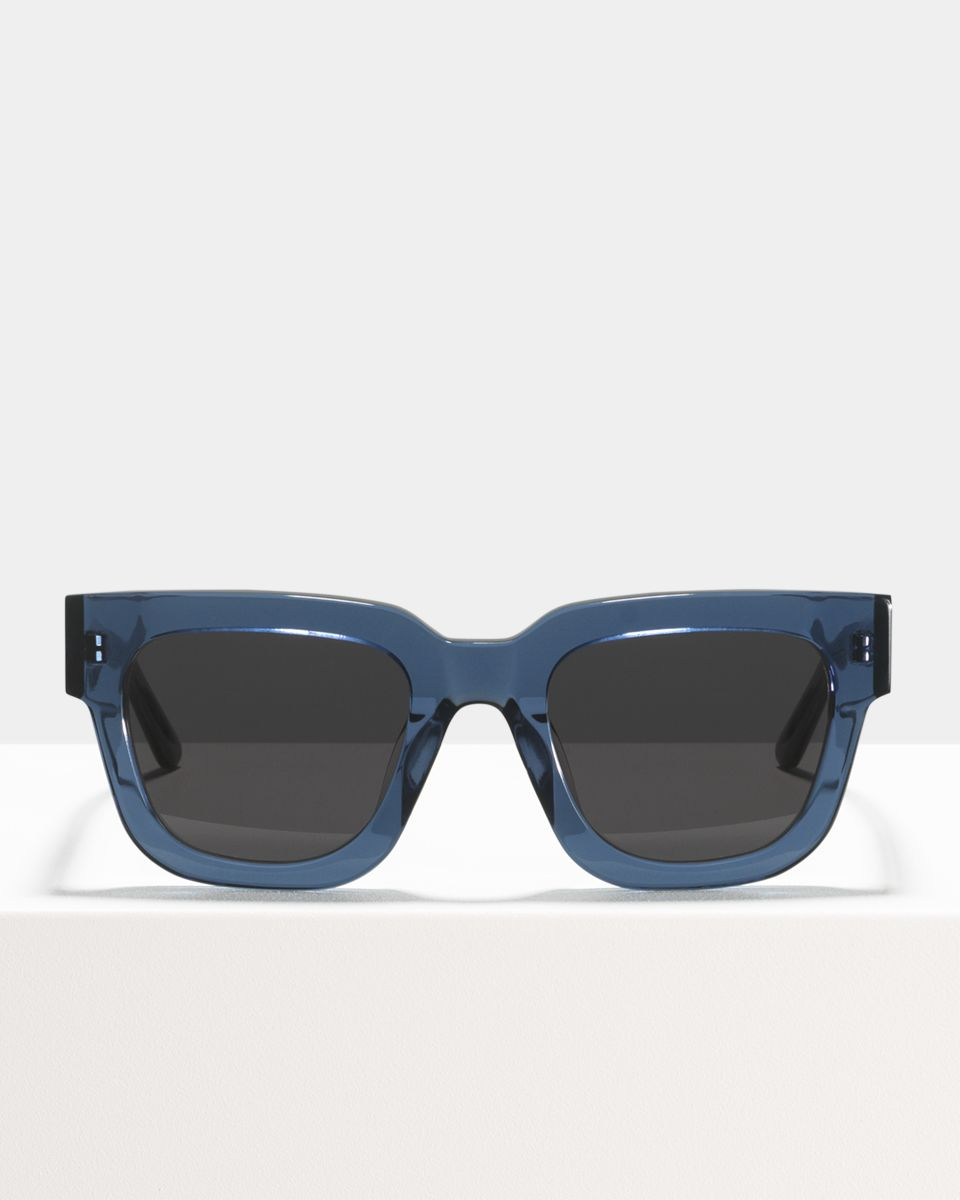 Allen rund Acetat glasses in Slate by Ace & Tate