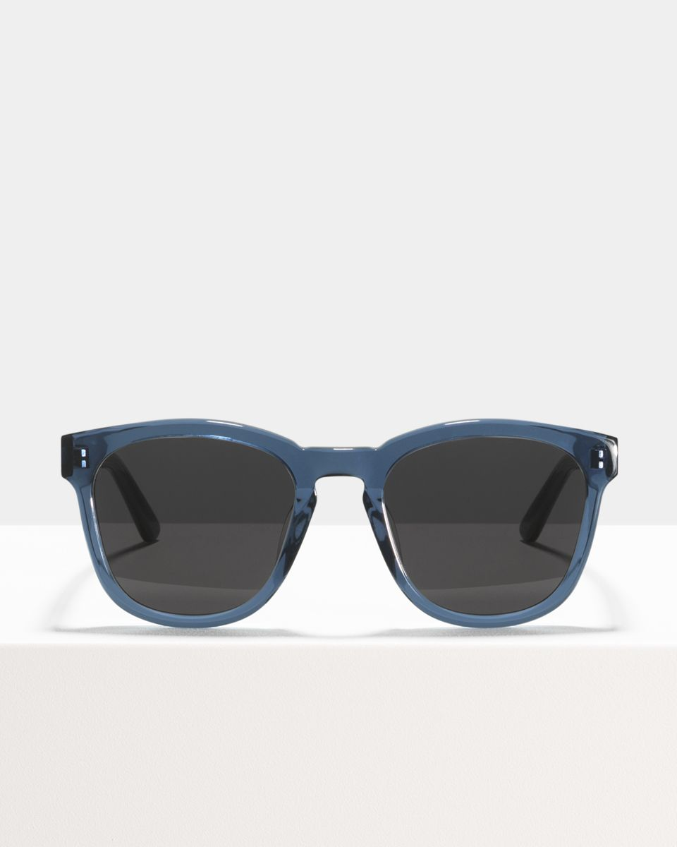 Dexter vierkant acetaat glasses in Slate by Ace & Tate