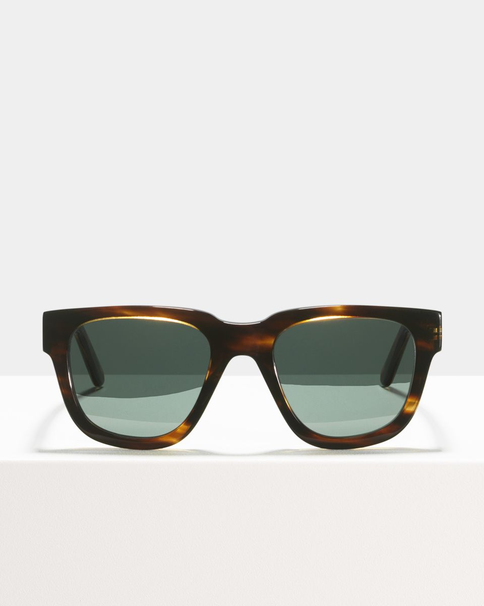 Harry round acetate glasses in Tiger Wood by Ace & Tate