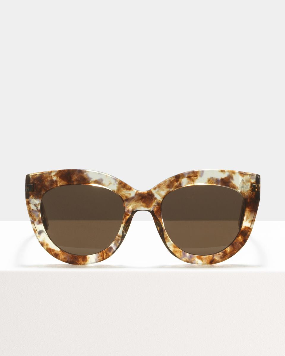 Vic rond acetaat glasses in Gold Dust by Ace & Tate
