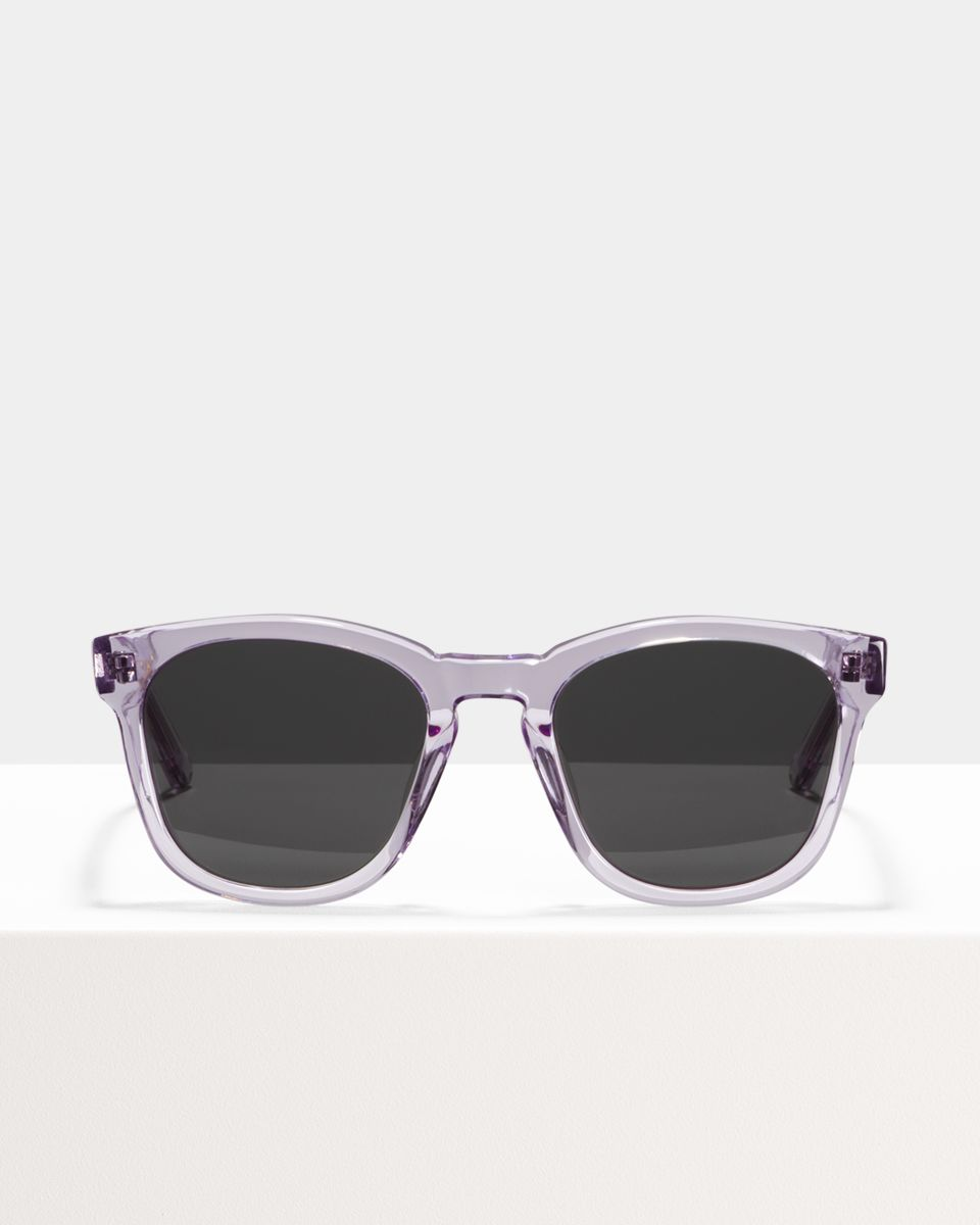 Dexter square acetate glasses in Lilac by Ace & Tate