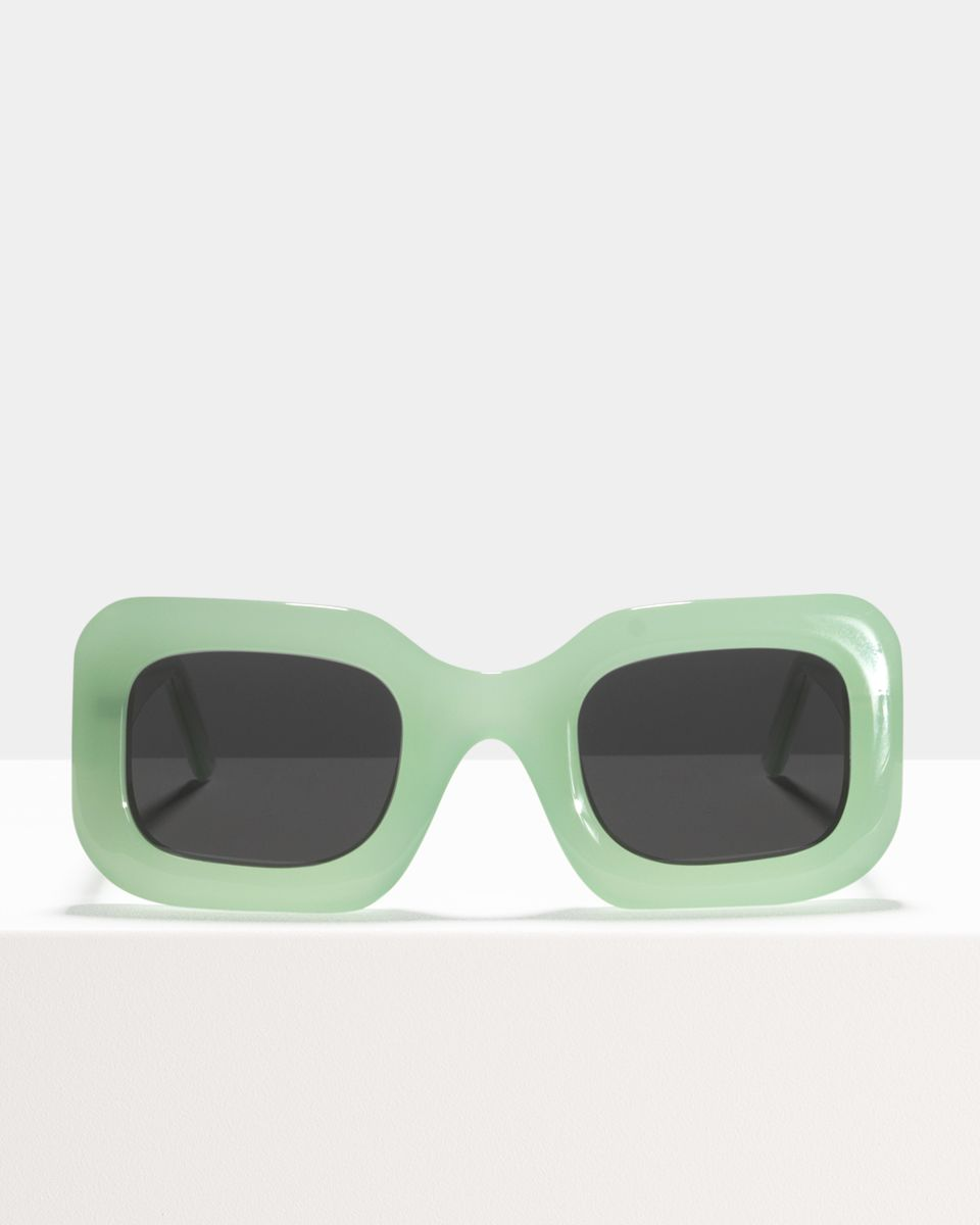 Donna rond acetaat glasses in Mint by Ace & Tate