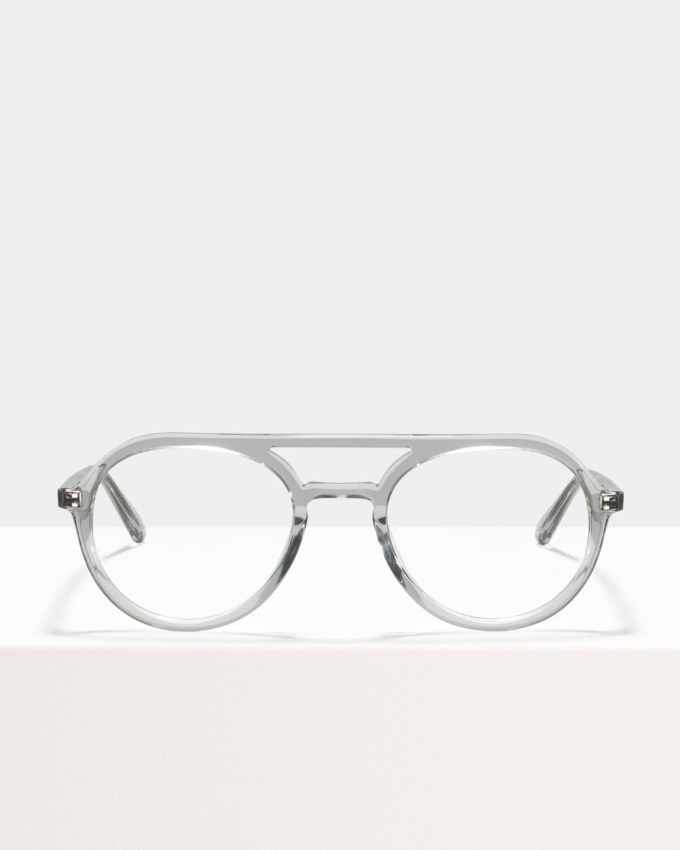 Paul rund Acetat glasses in Smoke by Ace & Tate