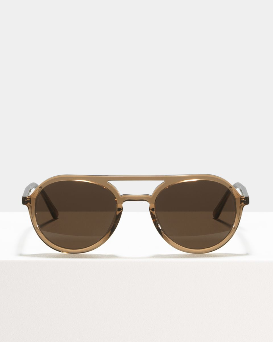 Paul rond acetaat glasses in Golden Brown by Ace & Tate