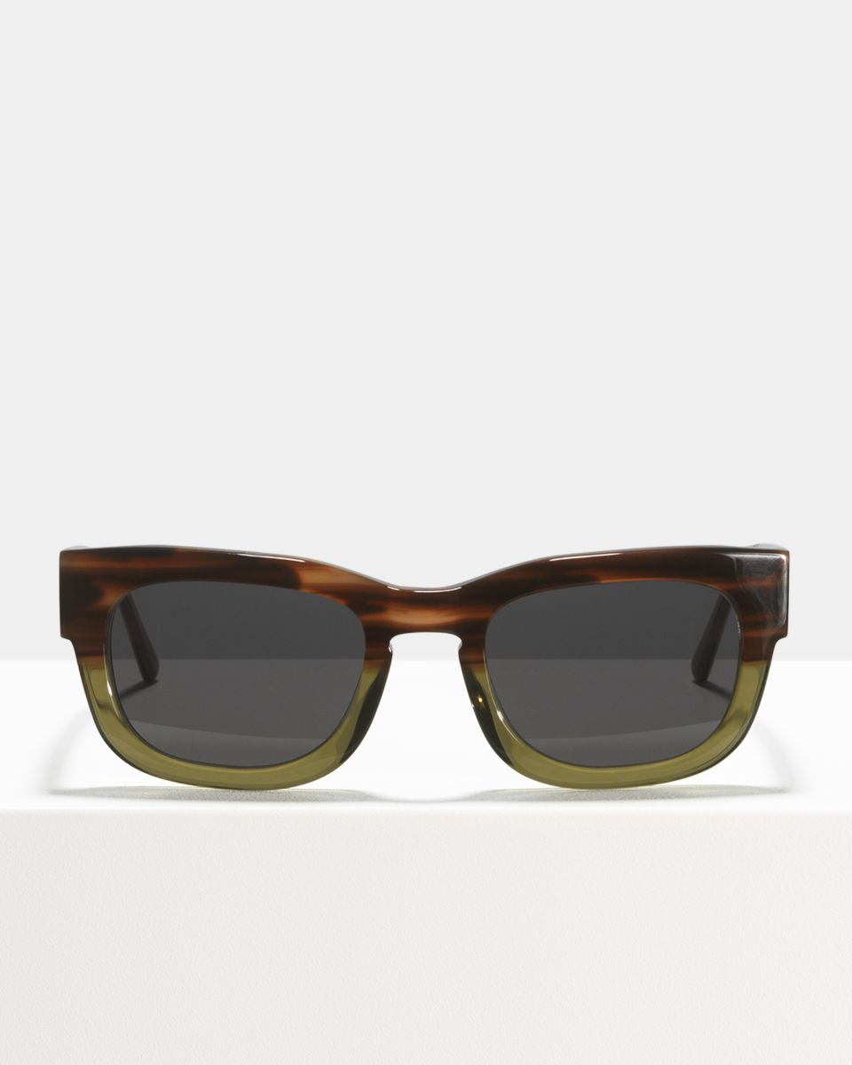 Pete rechteckig Acetat glasses in Hunter Green by Ace & Tate