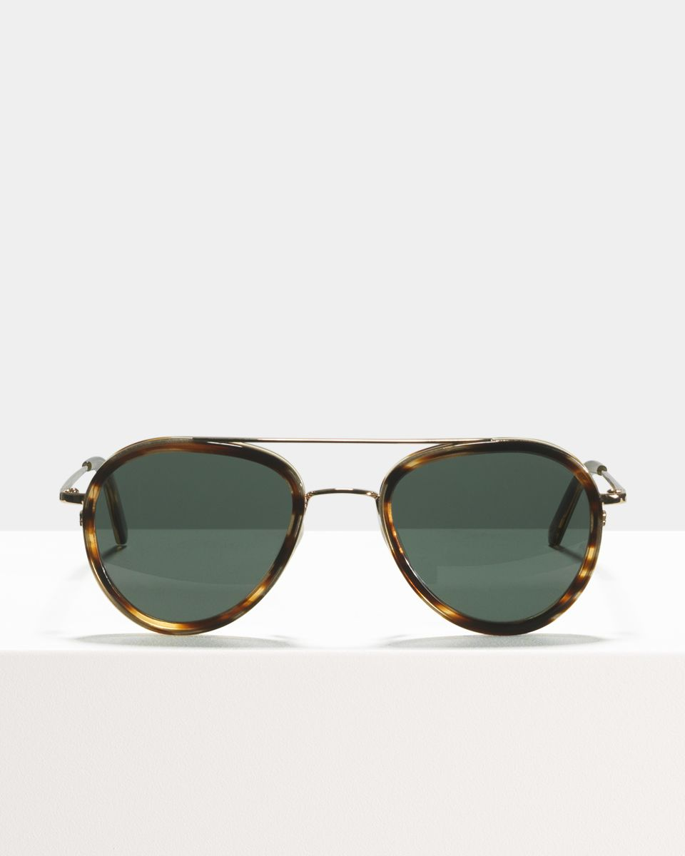 Quentin rund Kombination glasses in Tiger Wood by Ace & Tate