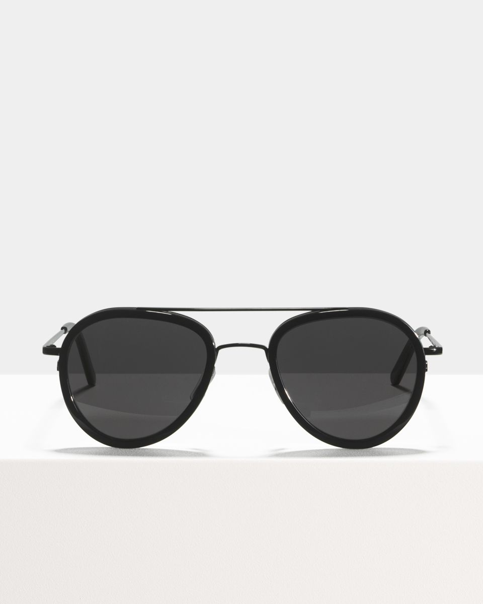 Quentin rund Verbund glasses in Bio Black by Ace & Tate