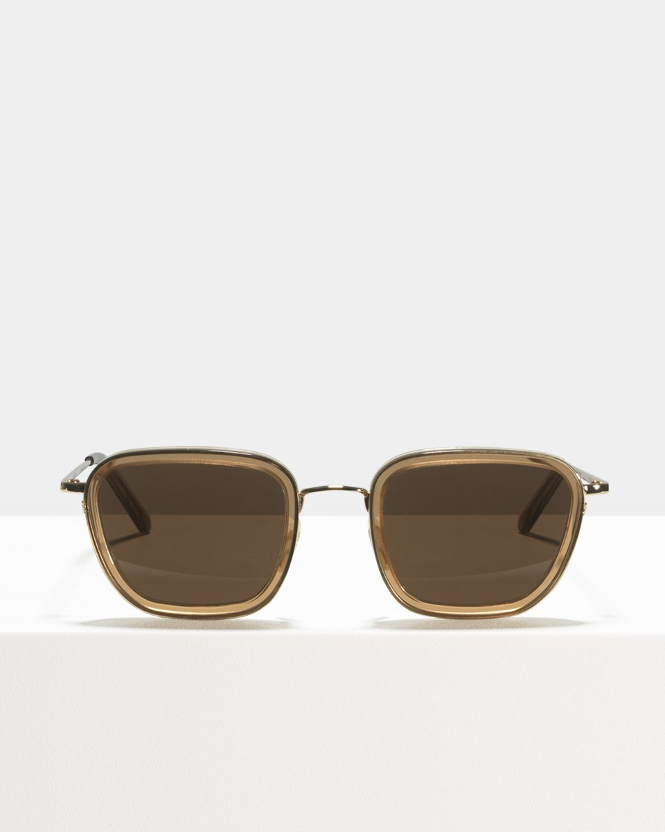 Ringo square combi glasses in Golden Brown by Ace & Tate