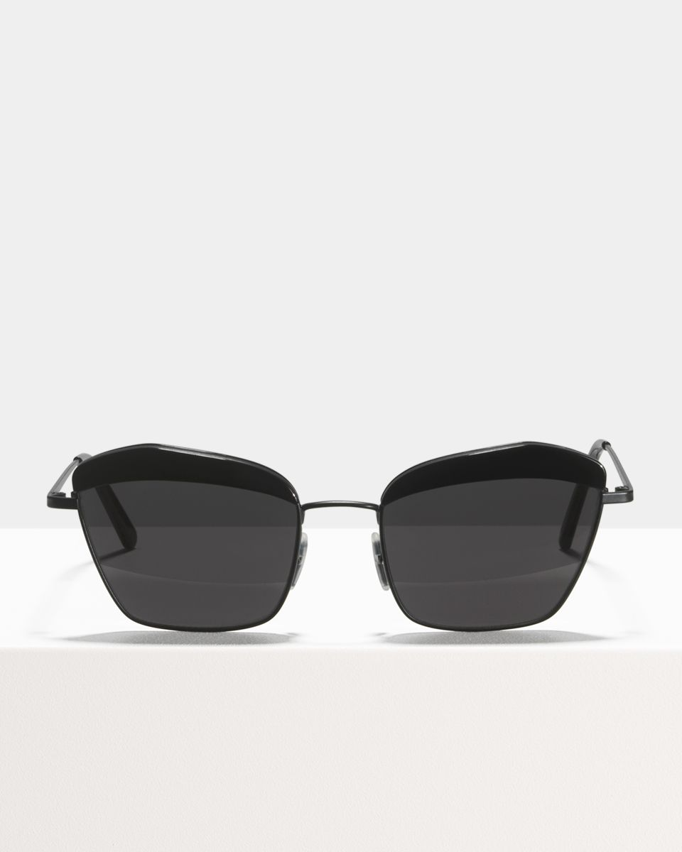 Jean viereckig Kombination glasses in Matte Black by Ace & Tate