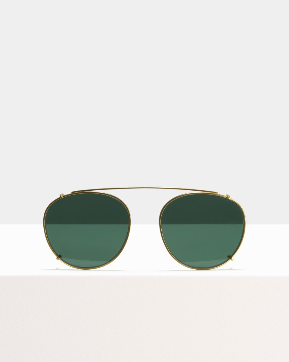 Neil clip-on   glasses in Satin Gold by Ace & Tate