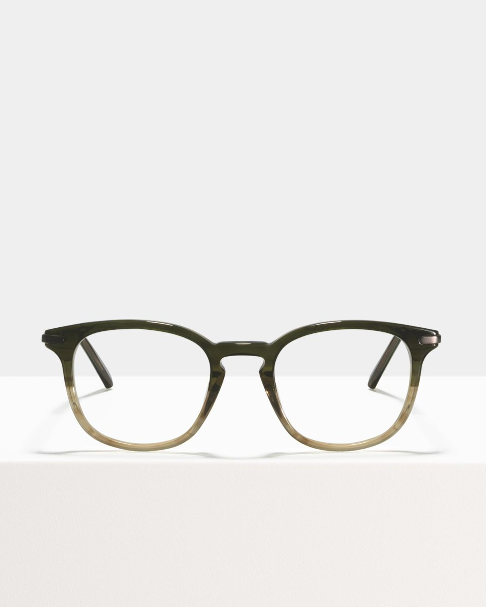 Dylan vierkant combi glasses in Olive Gradient by Ace & Tate