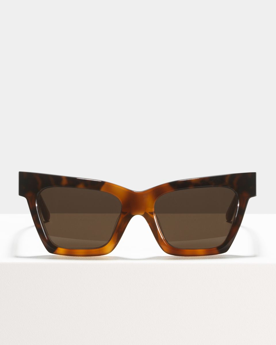 Grace rectangulaires acétate glasses in Caramel Blitz by Ace & Tate