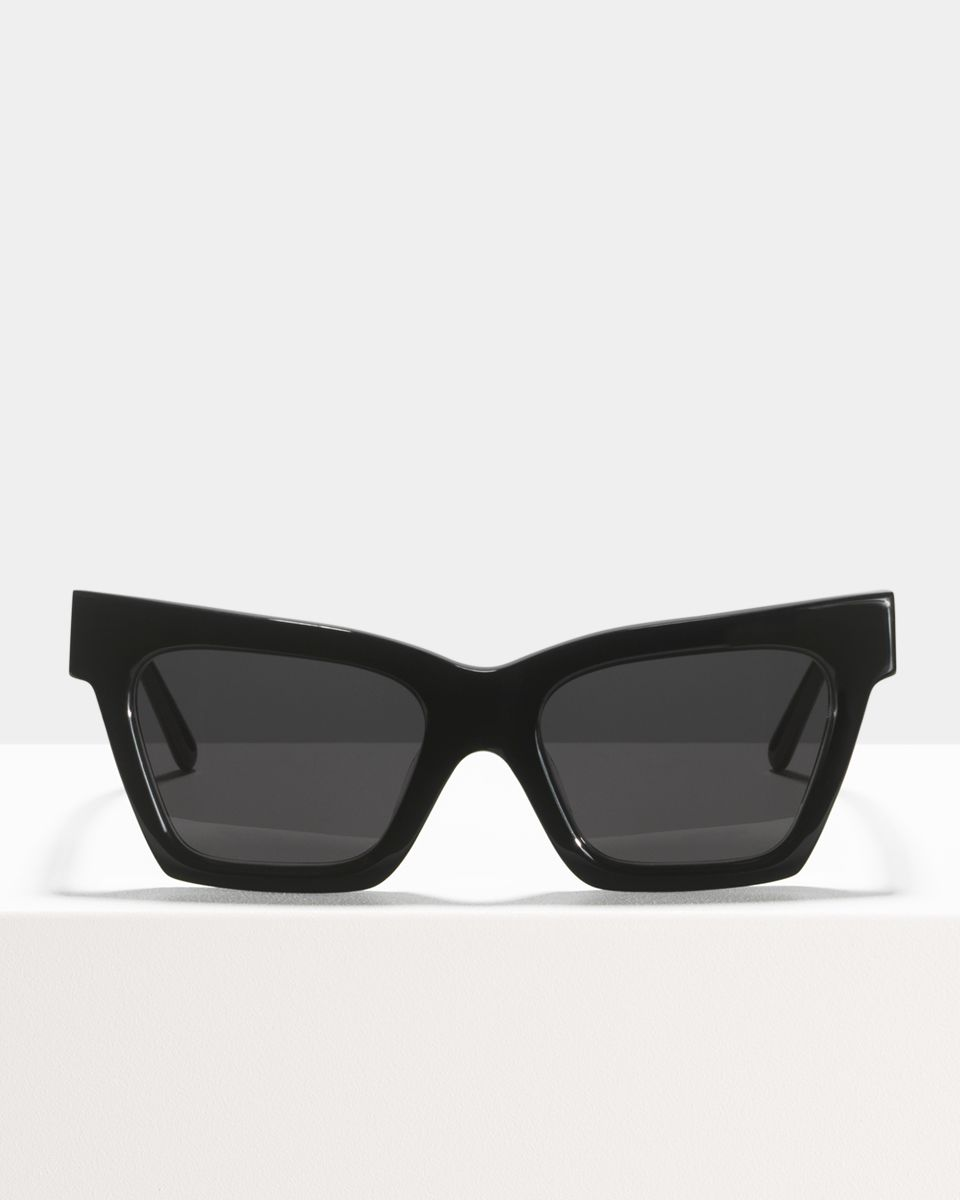 Grace rechteckig Bio-Acetat glasses in Bio Black by Ace & Tate