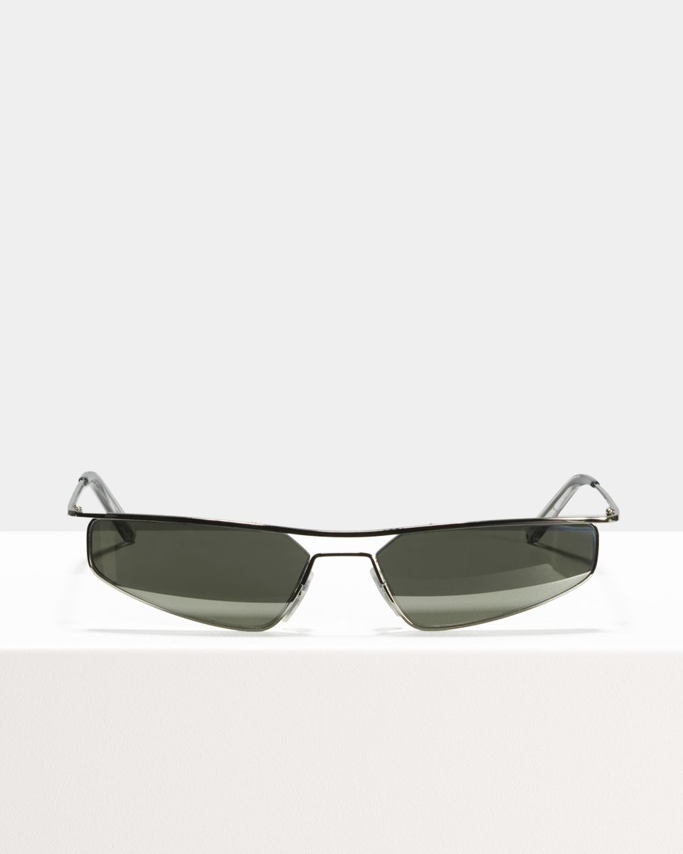 CMMN Neo rectangle metal glasses in Silver Mirror by Ace & Tate