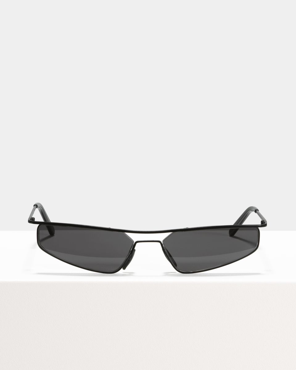 CMMN Neo rectangle metal glasses in Matte Black by Ace & Tate