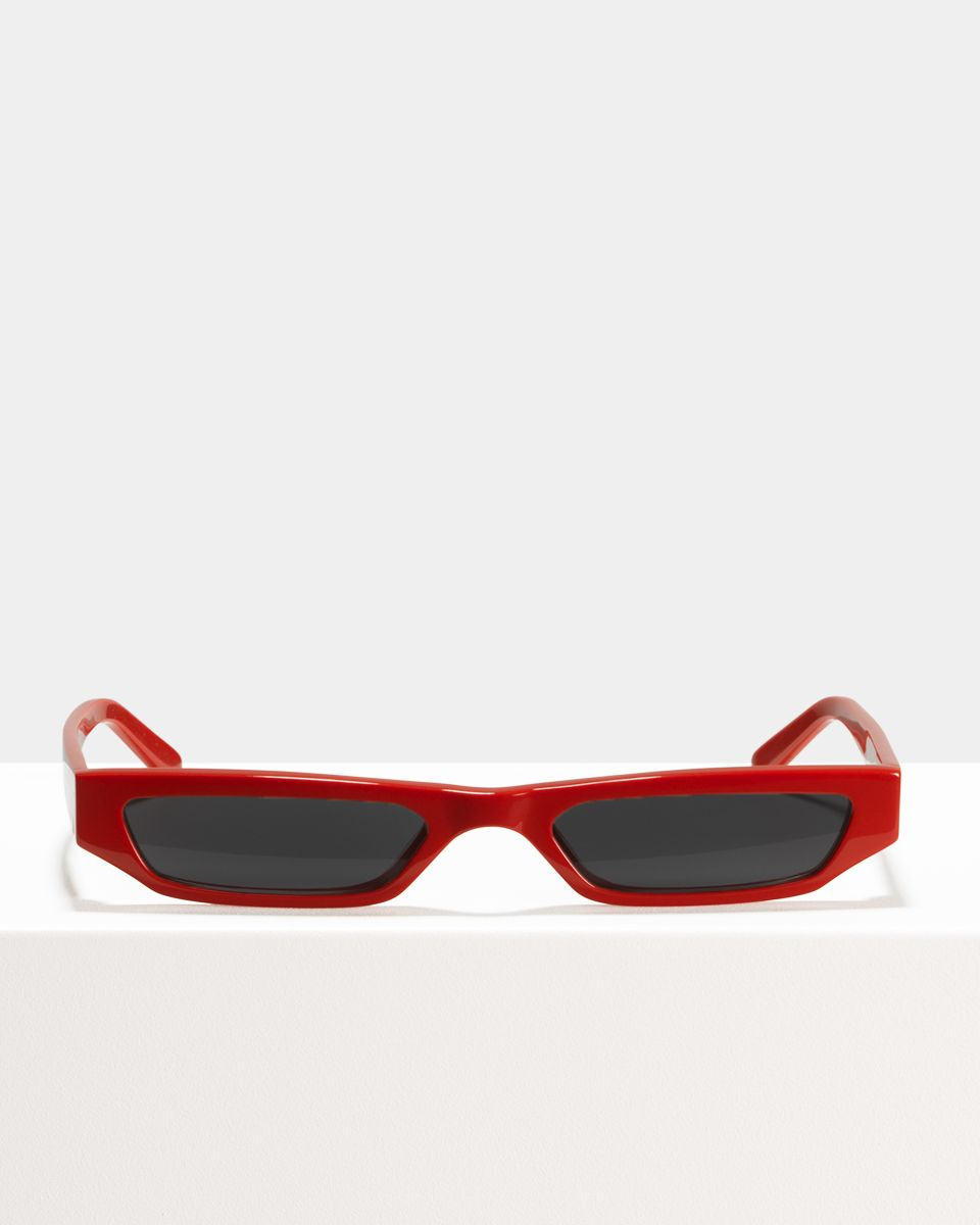 CMMN Pris rechthoek acetaat glasses in Racing Red by Ace & Tate