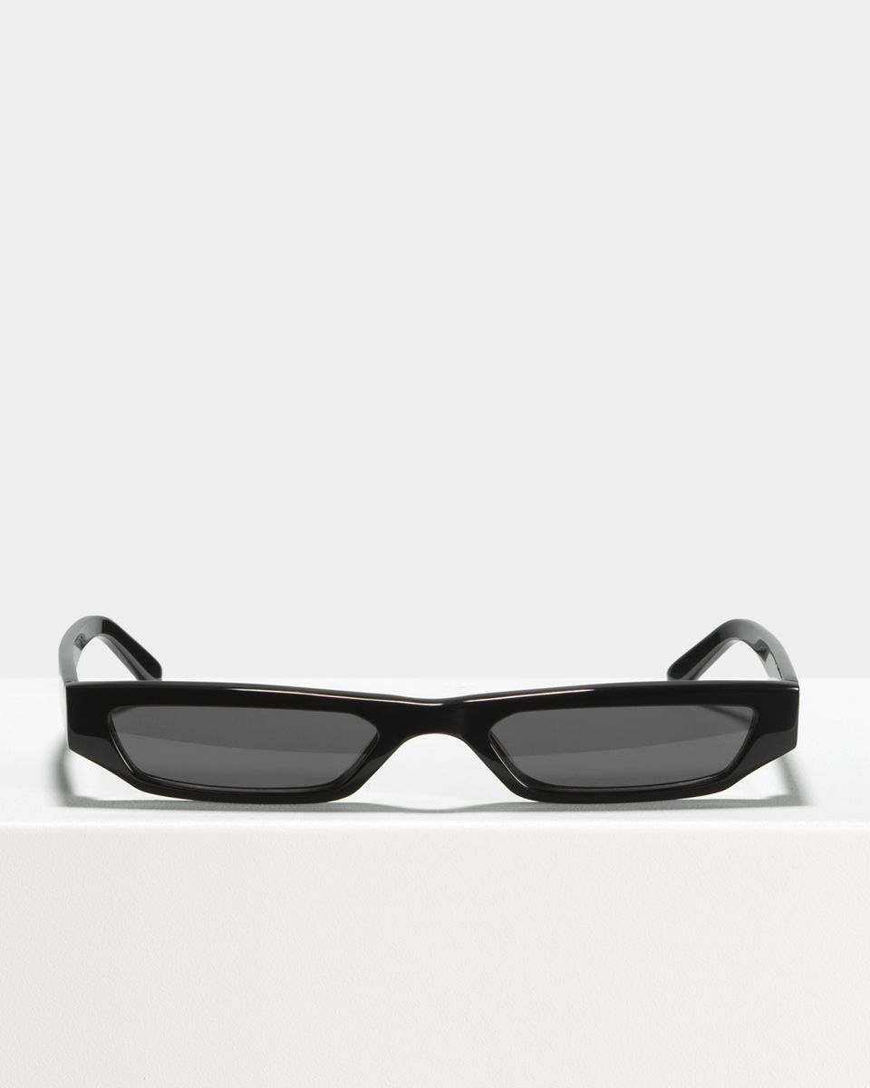 CMMN Pris rechthoek acetaat glasses in Jet Black by Ace & Tate