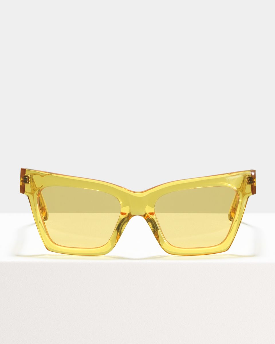 Grace rechthoek acetaat glasses in Marigold by Ace & Tate