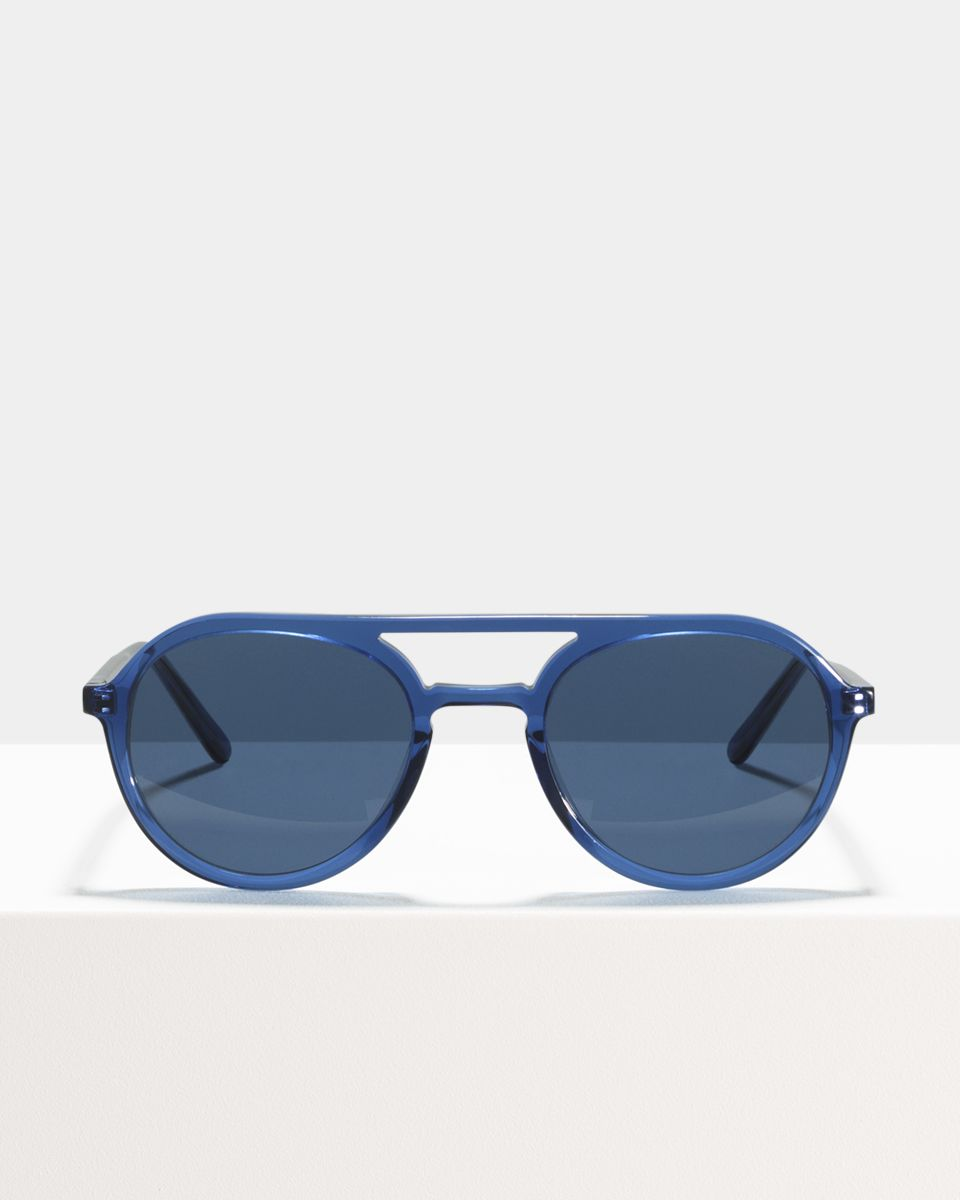 Paul round acetate glasses in Deep Blue by Ace & Tate