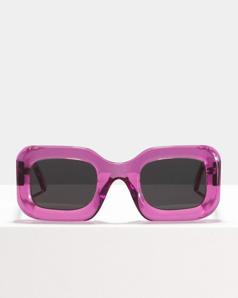 Donna rond acetaat glasses in Raspberry by Ace & Tate