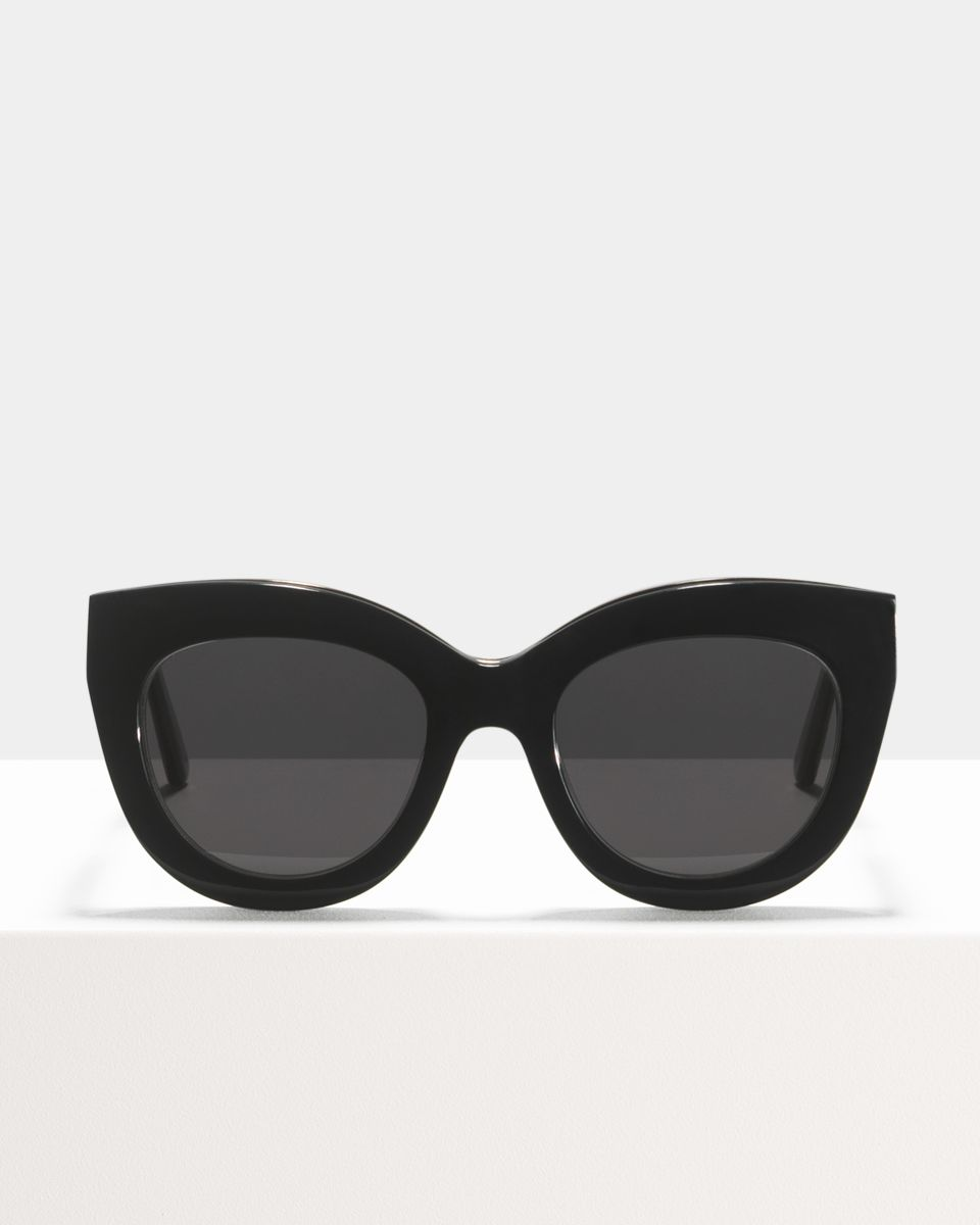 Vic Lux round bio acetate glasses in Bio Black by Ace & Tate