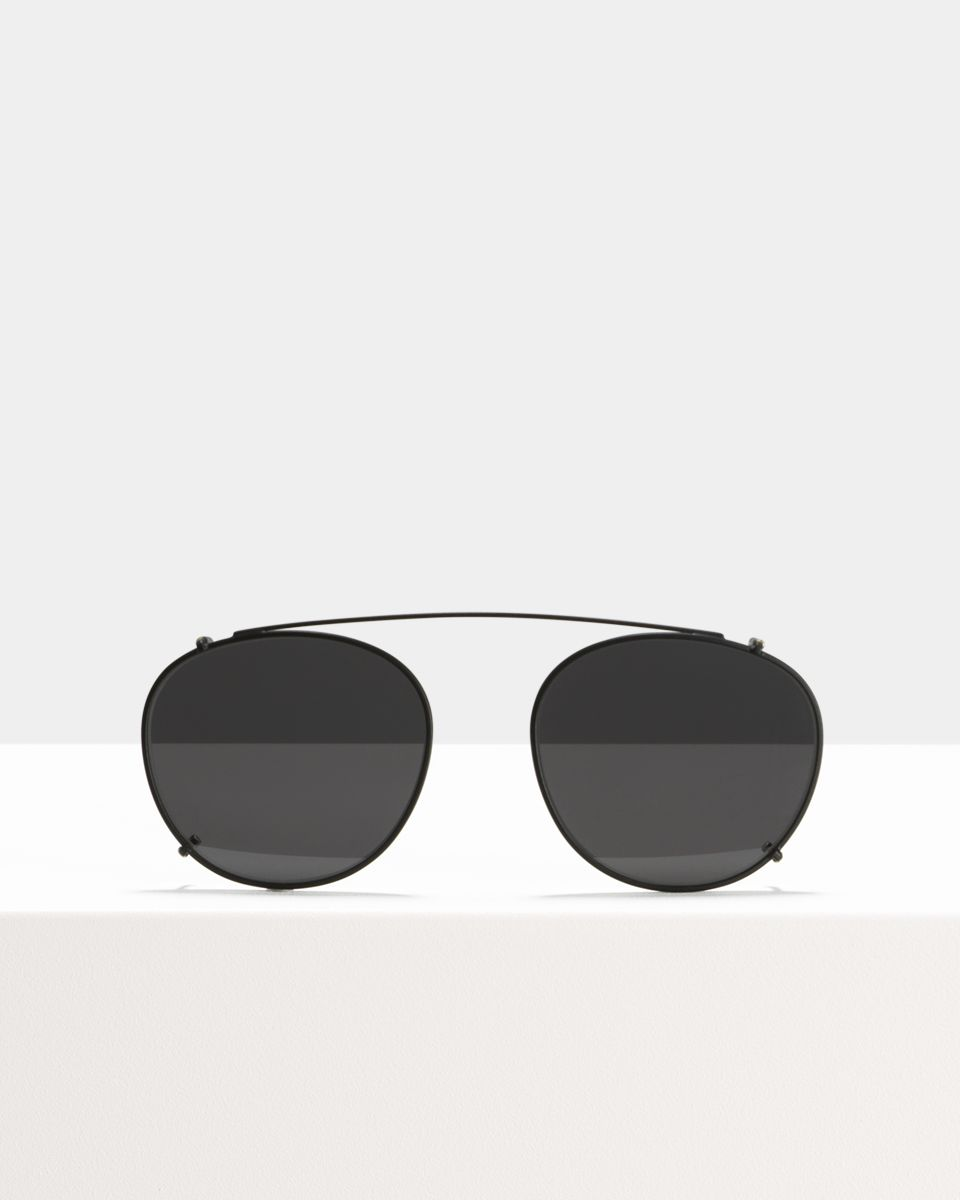 Neil clip-on   glasses in Matte Black by Ace & Tate