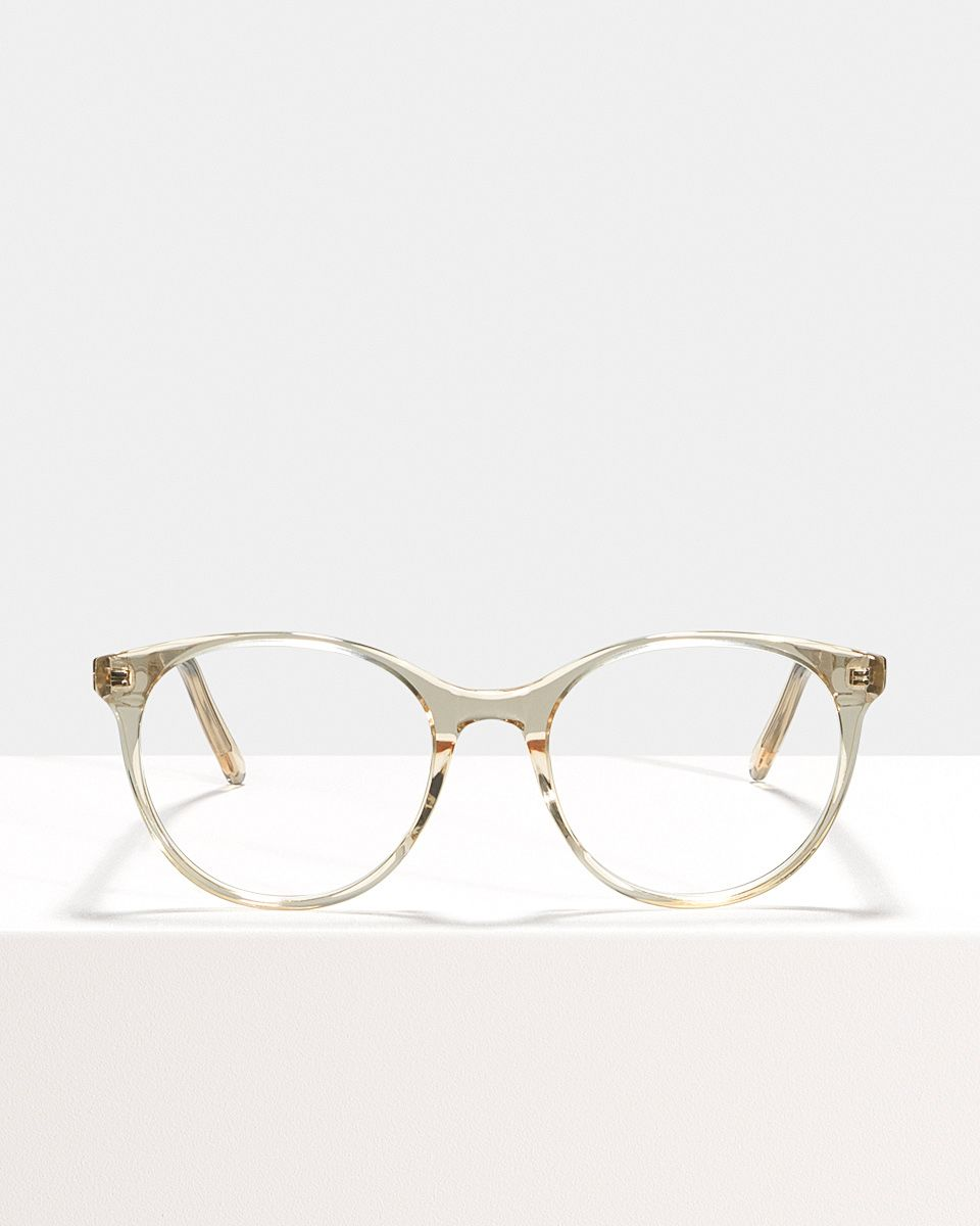 Lily round acetate glasses in Fizz by Ace & Tate