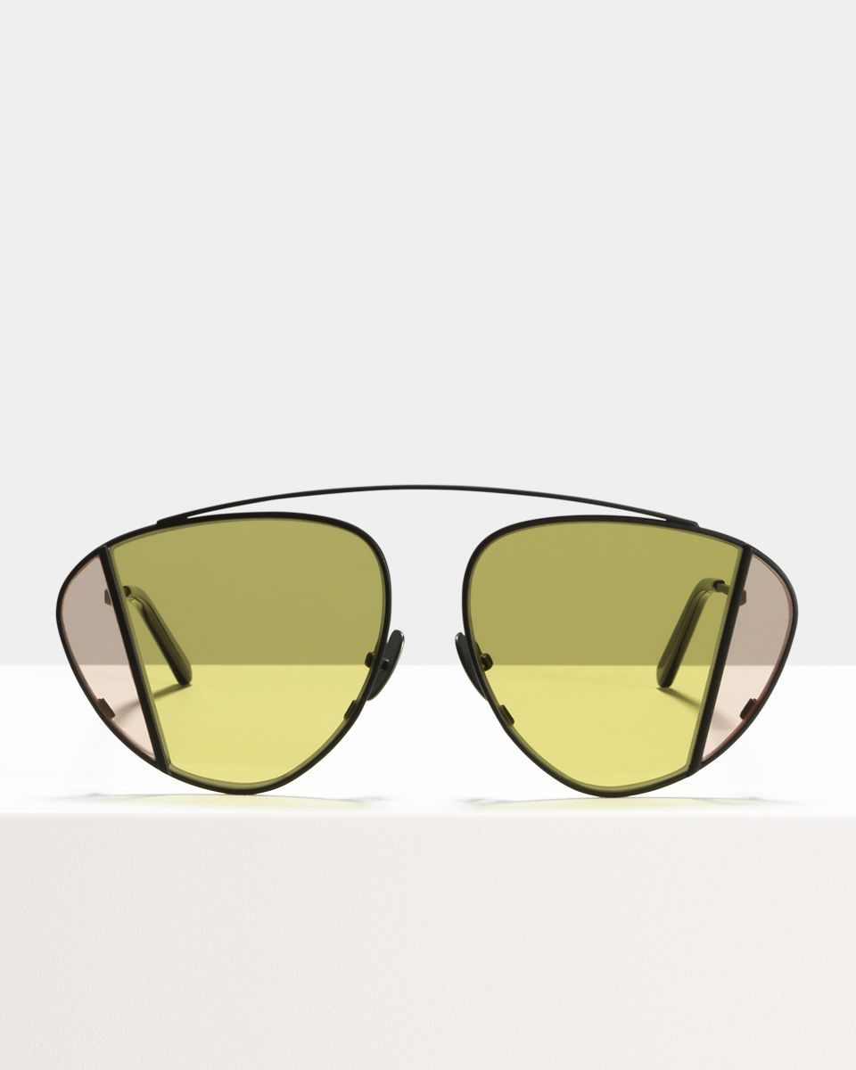 Lenny rund Metall glasses in Matte Black by Ace & Tate