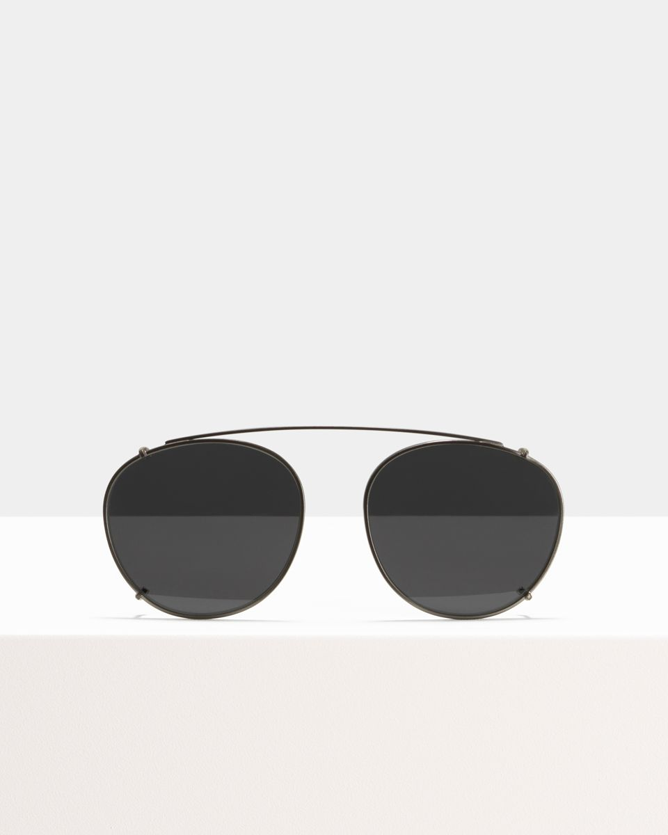 Neil clip-on   glasses in Satin Silver by Ace & Tate