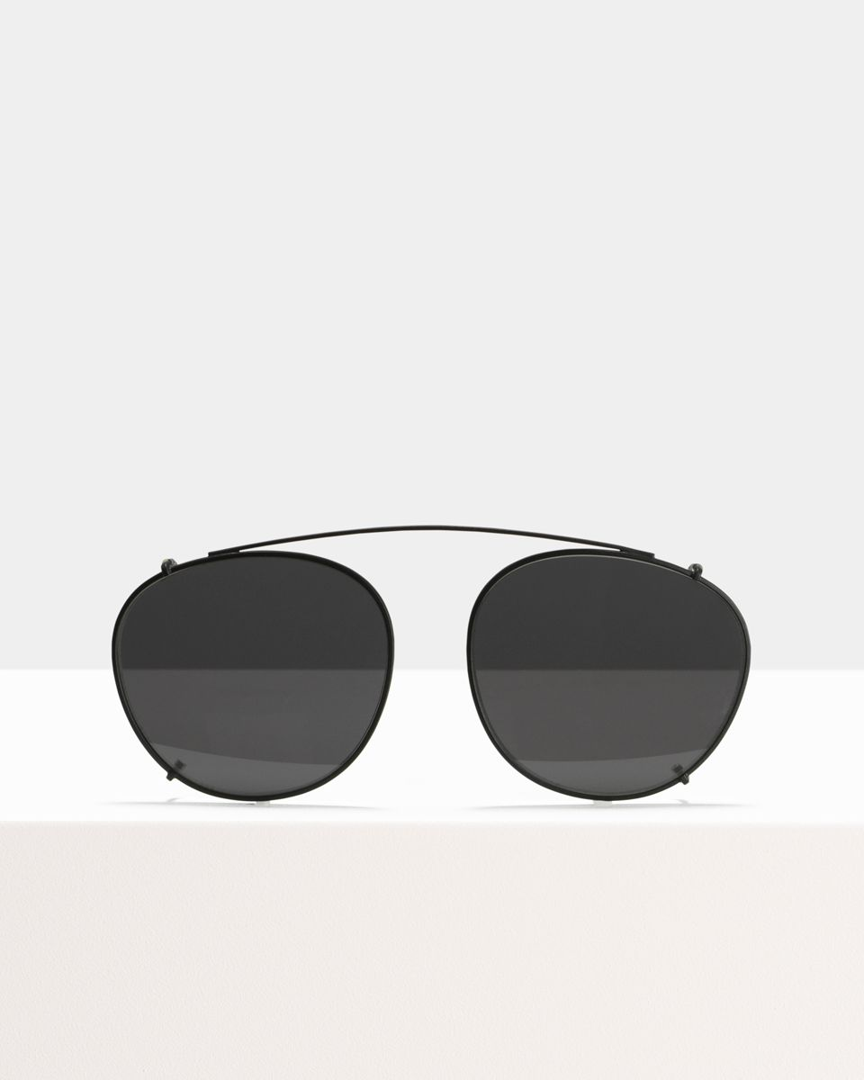 Neil Large clip-on   glasses in Matte Black by Ace & Tate