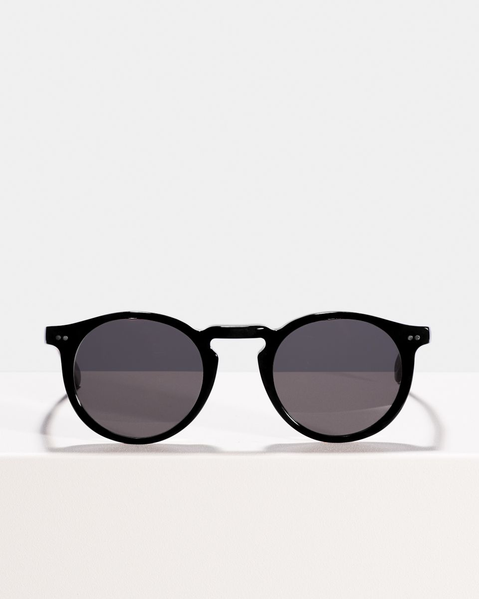 Benjamin rond bioacetaat glasses in Bio Black by Ace & Tate